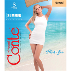 КОЛГОТКИ КОНТЕ CONTE SUMMER 8 DEN OPEN TOE BRONZ - фото 5125